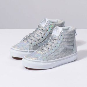 New VANS Metallic Glitter Sk8-Hi Zip Girls Shoes
